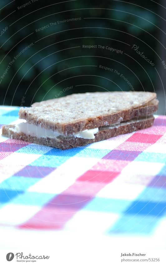 Nutrition Table Bread Checkered Sandwich