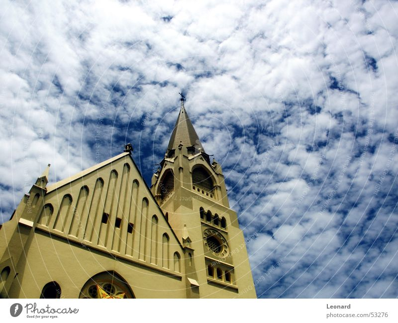 Sky Blue Clouds Religion and faith Back Perspective Tower Africa Dome Cathedral