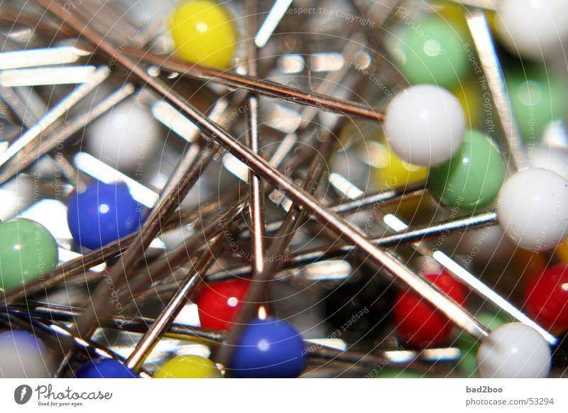 Metal Point Plastic Needle Pierce Chrome Pin Tack