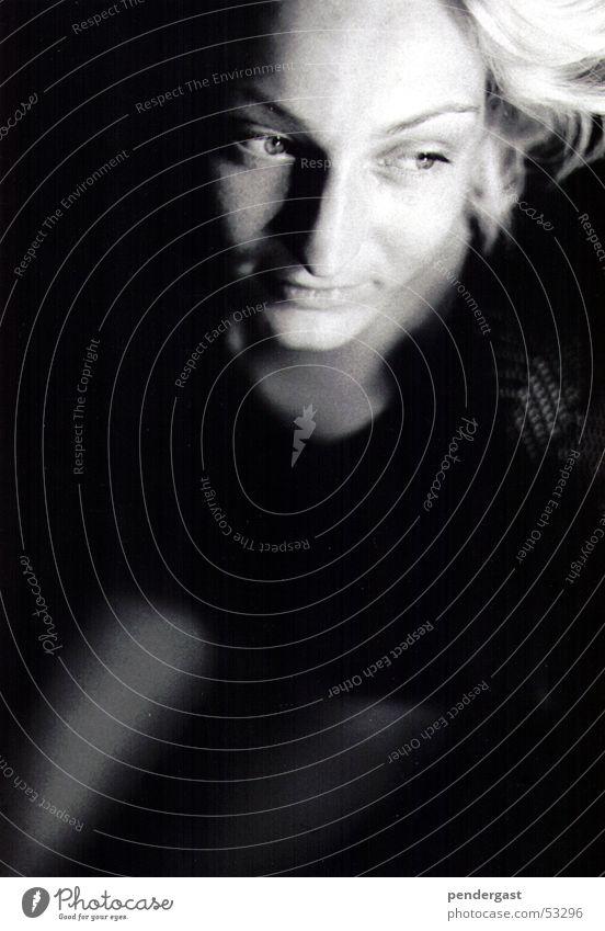 Portrait in black and white Portrait photograph Romance Woman Black & white photo