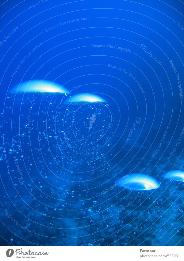 Water Blue Air Dive Blow Underwater photo