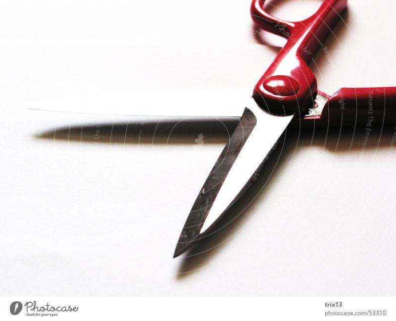 White Red Pink Door handle Scissors Cut Catch Blade Ground down