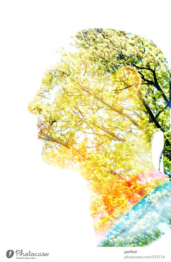 Human being Woman Beautiful Tree Adults Feminine Head Art Uniqueness Double exposure Twigs and branches 30 - 45 years Interesting