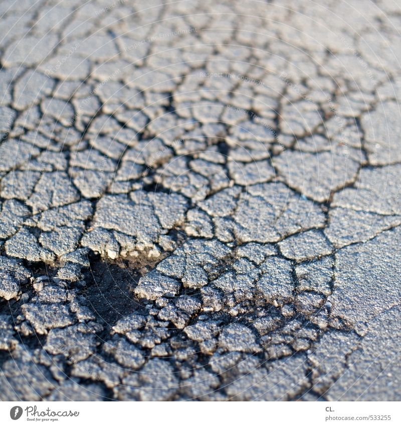 Old Street Lanes & trails Gray Stone Transport Dangerous Broken Floor covering Ground Derelict Decline Traffic infrastructure Pavement Crack & Rip & Tear