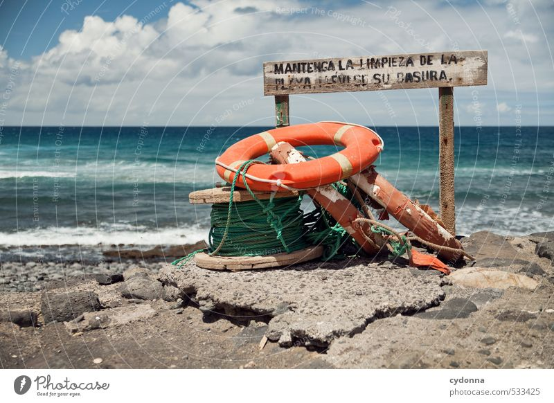 flotsam and jetsam Vacation & Travel Tourism Adventure Far-off places Freedom Summer vacation Nature Landscape Water Wind Warmth Rock Waves Coast Beach Ocean