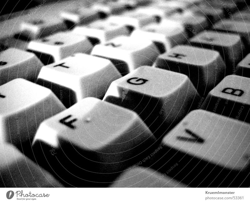 White Black Letters (alphabet) Keyboard
