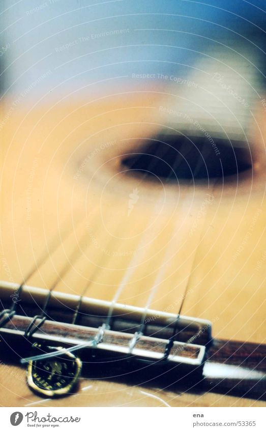 Long strings Musical instrument string Wood Blue-yellow Blur Self-made 6 Tone Sound Listening Playing Plucking Concert Joy Perspective Musical notes Guitar