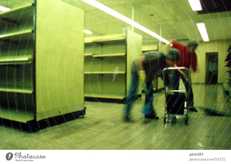 Green Empty Target Cleaning Moving (to change residence) Neon light Flow Shelves Supermarket Cleaner Markets
