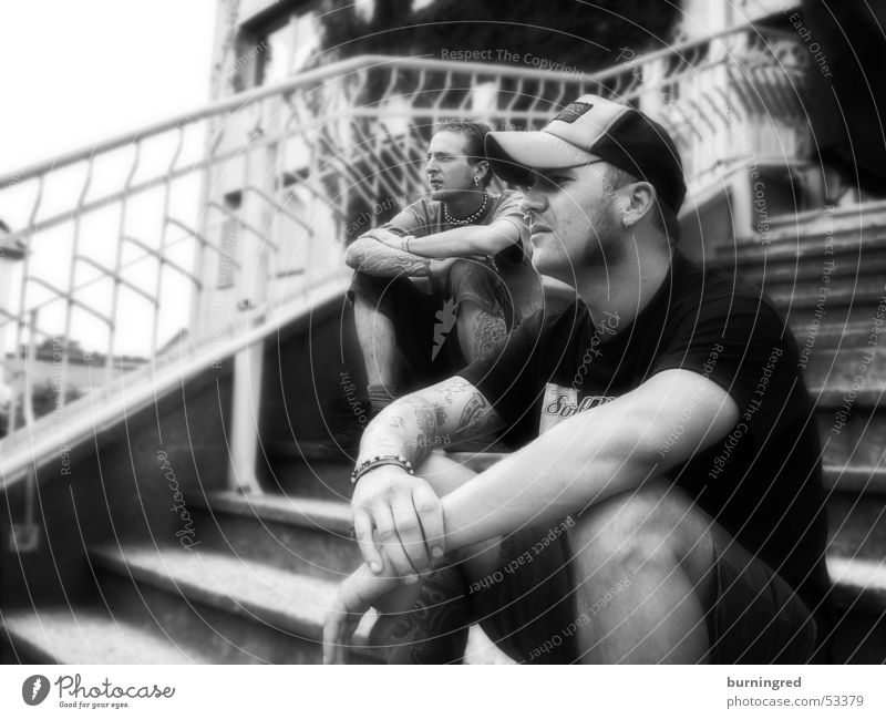 Ol' tymes Black White Rock music roll Stairs tattoo Life