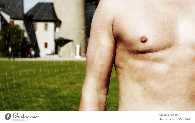 Chest Portrait Joy Happy Beautiful Personal hygiene Body Skin Healthy Athletic Fitness Well-being Leisure and hobbies Playing Vacation & Travel Club Disco