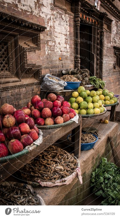 market Food Vegetable Fruit Apple Vegetarian diet Shopping Culture House (Residential Structure) Building Wall (barrier) Wall (building) Poverty Esthetic Exotic
