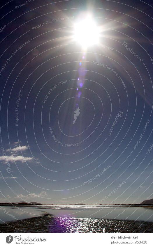 Sun Ocean Calm Far-off places Blue sky