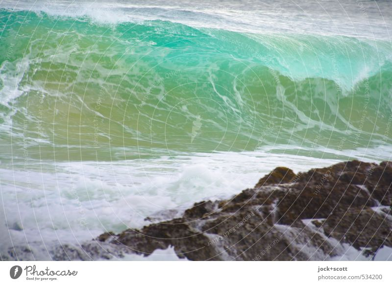 easterly Nature Elements coast Reef Pacific Ocean Australia Speed Turquoise Force Surf Waves Wave action Wave break White crest motion blur Force of nature Rock