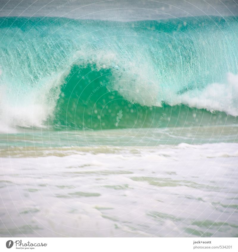 next wave Nature Elements Waves Pacific Ocean Australia Movement Authentic Speed Turquoise Force White crest Wave action Undulation Flip over motion blur Surf