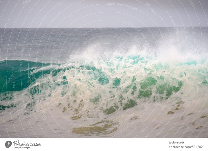 wave-like Nature Horizon Wind Waves Pacific Ocean Australia Speed Force White crest Wave action Force of nature Wave trough Swell Neutral Background motion blur