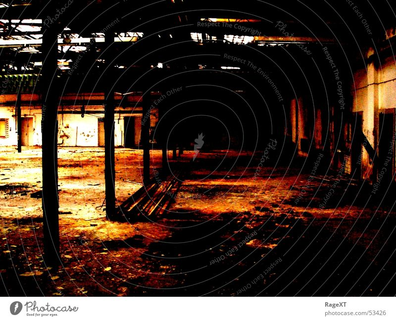 Old Dark Dirty Industrial Photography Broken Rust Warehouse