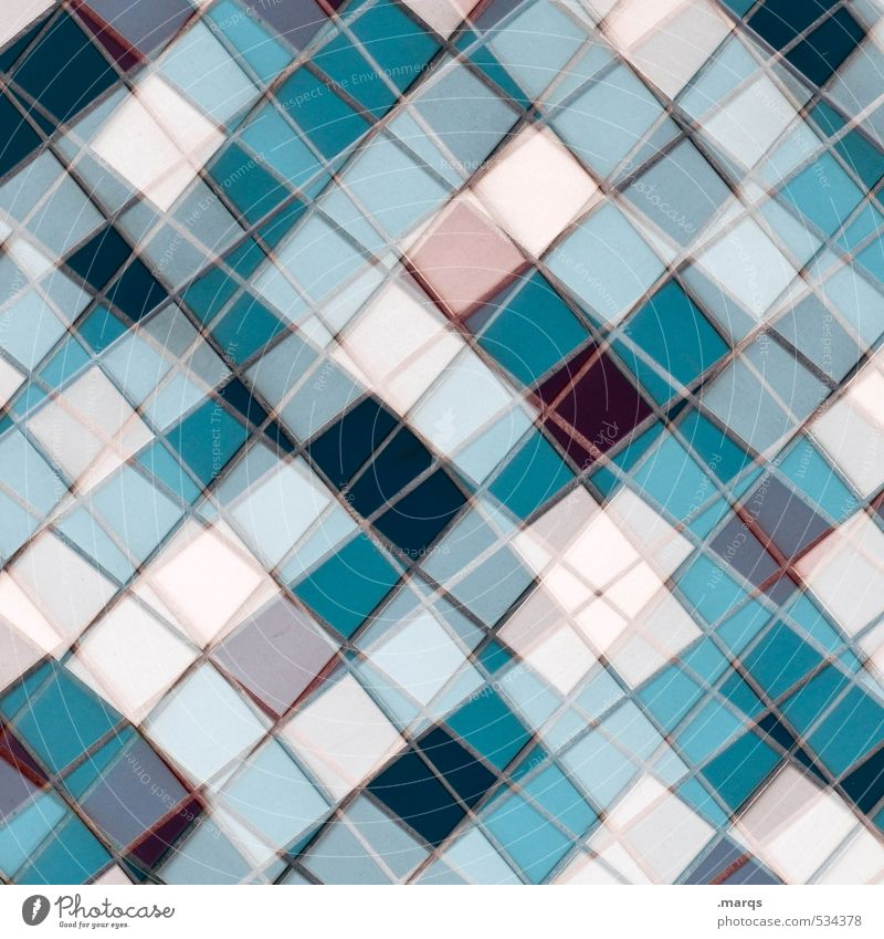 Mosaic (winter edition) Style Design Line Exceptional Sharp-edged Hip & trendy Uniqueness Modern Crazy Blue Pink Turquoise White Colour Creativity Arrangement