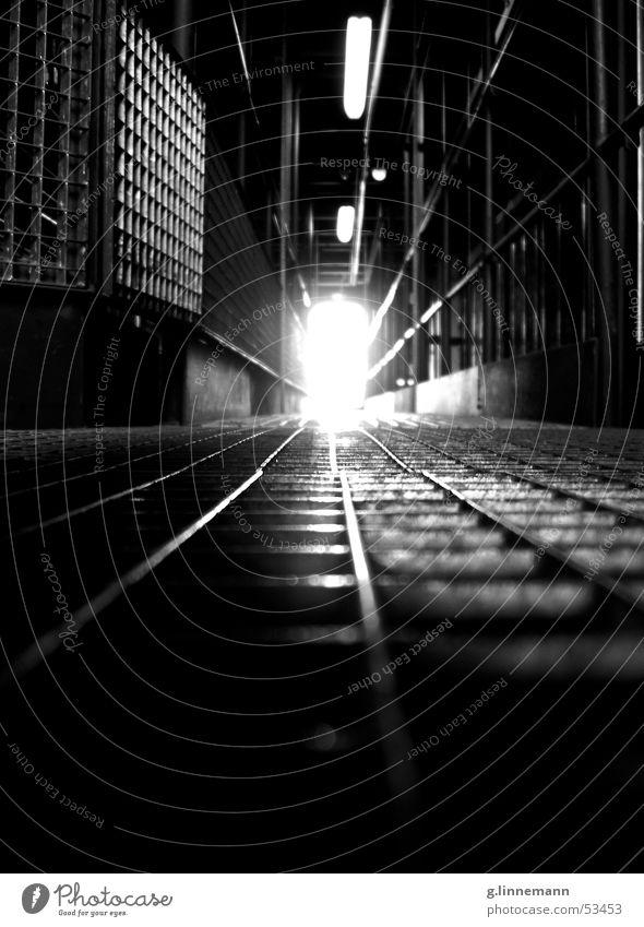 gallery Musical Art Dark Black Grating Footbridge Light Eerie Creepy Cold Physics Neon light Steel Aluminium Warehouse Stage Railroad Beginning Stage play