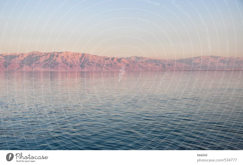 Sky Nature Blue Water Landscape Environment Mountain Coast Cloudless sky False Israel The Dead Sea
