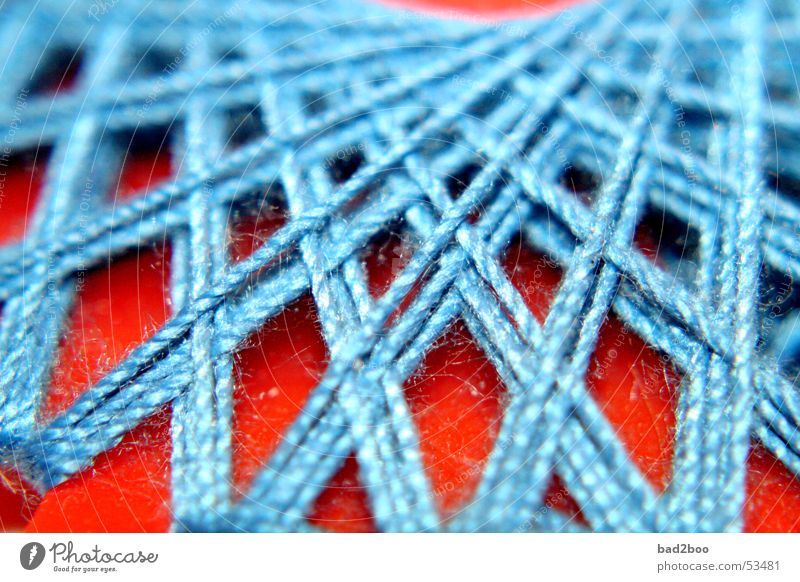 Blue Orange Wind Star (Symbol) Cloth String Material Spider Sewing thread Textiles Stitching Coil Thread Bond Crossed