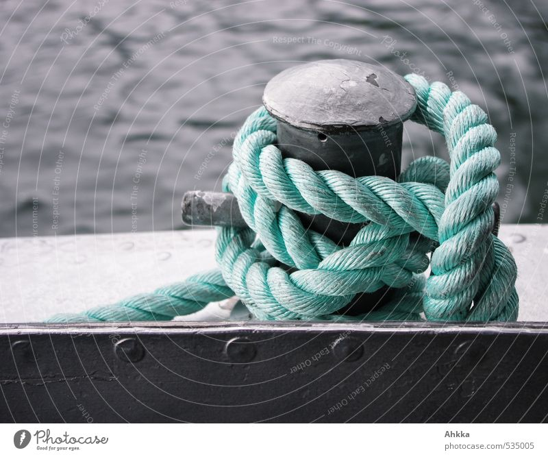 dresscode Work of art Transport Navigation Boating trip Rope Node Metal Plastic Water Knot Bow Network To hold on Tug-of-war Embrace Esthetic Blue Turquoise