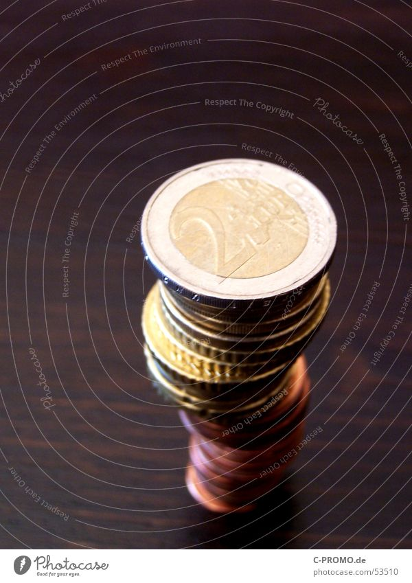 Coin Business Contentment Brown Metal Money Table Europe Bar Tower Euro Financial Industry Cent