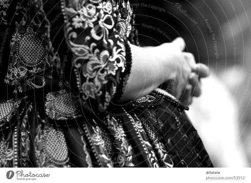 BRAZO Woman Arm Black & white photo B&W suit xviii th century s xix peasant Elegant dressed in epoch suit(suit) xviiith century Farmer