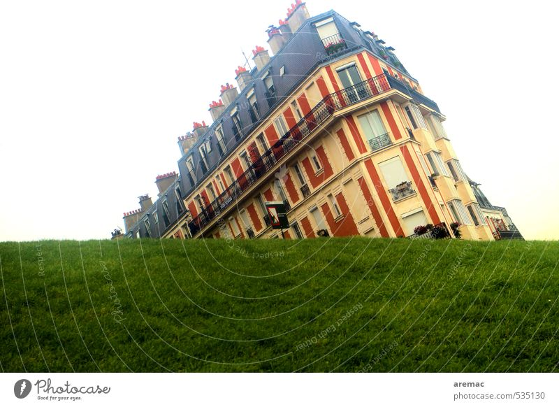 doom mood Grass Paris France Europe Town Capital city Deserted House (Residential Structure) Manmade structures Building Architecture Exceptional Yellow Green