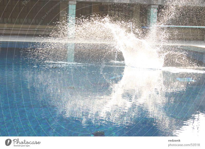 Sun Blue Summer Joy Cold Wet Swimming pool Inject Refreshment Open-air swimming pool Splash