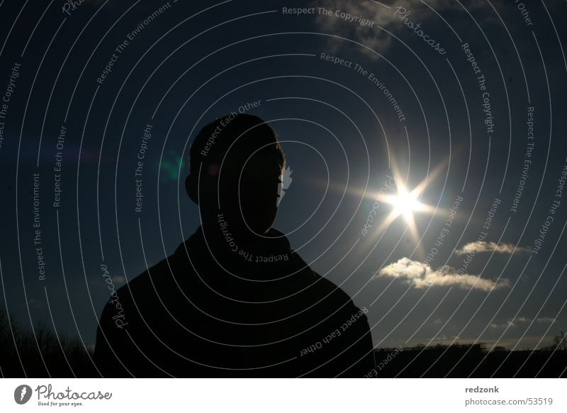 Man Sun Summer Clouds Dark Work and employment Adults Profession Mysterious Guy Eerie Agent