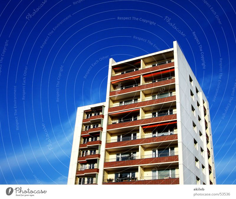 Sky Blue Vacation & Travel House (Residential Structure) High-rise Living or residing Clarity Balcony
