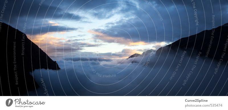 So close to heaven ... Nature Landscape Earth Air Sky Clouds Sunrise Sunset Fog Alps Mountain Esthetic Infinity Joie de vivre (Vitality) Power Brave Passion