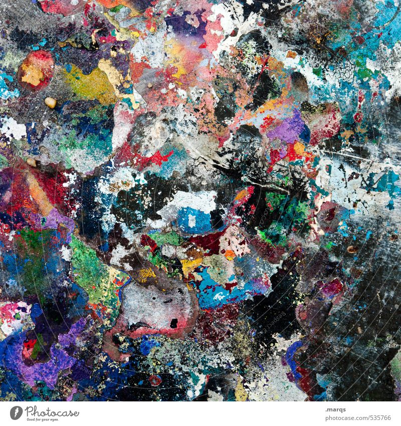 Colourful hustle and bustle Lifestyle Elegant Style Design Painter Art Graffiti Patch of colour Dye Exceptional Uniqueness Many Crazy Multicoloured Chaos