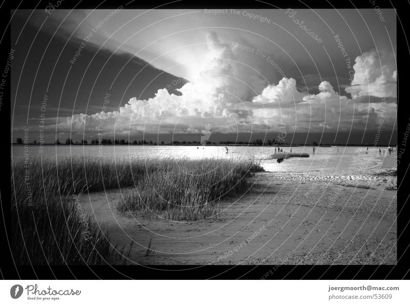 Water Sky Ocean Summer Beach Vacation & Travel Clouds Grass Sand Landscape Waves USA Gale Storm Dramatic Florida