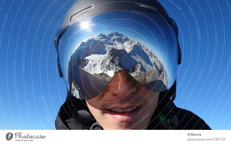 AlpsImVisier Lifestyle Joy Vacation & Travel Winter Snow Winter vacation Mountain Sports Winter sports Skiing Snowboard Human being 1 Nature Earth