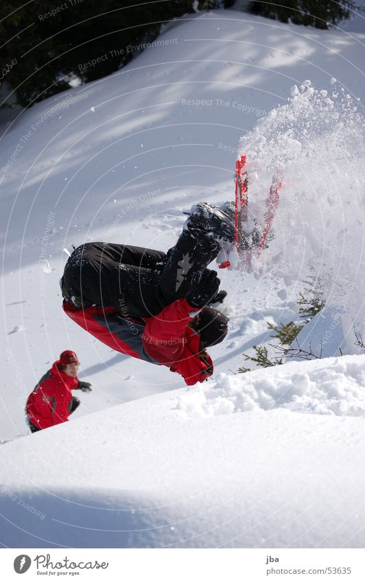 White Sun Red Black Snow Jump Footwear Salto Somersault Snow shoes