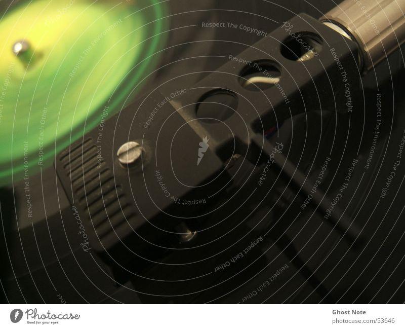 Green Black Music Disc jockey Pick-up head Record Record player 33 rpm
