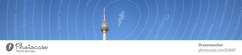 Sky Blue Summer Berlin Large Panorama (Format) Berlin TV Tower Alexanderplatz