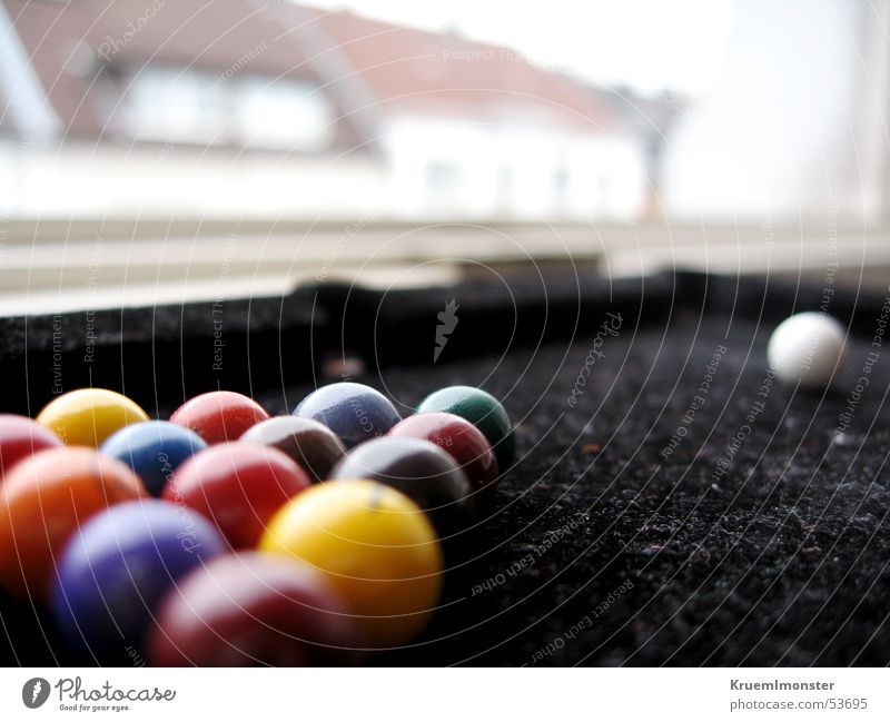 Billiards above the roofs Pool (game) Swimming pool House (Residential Structure) Felt Sphere