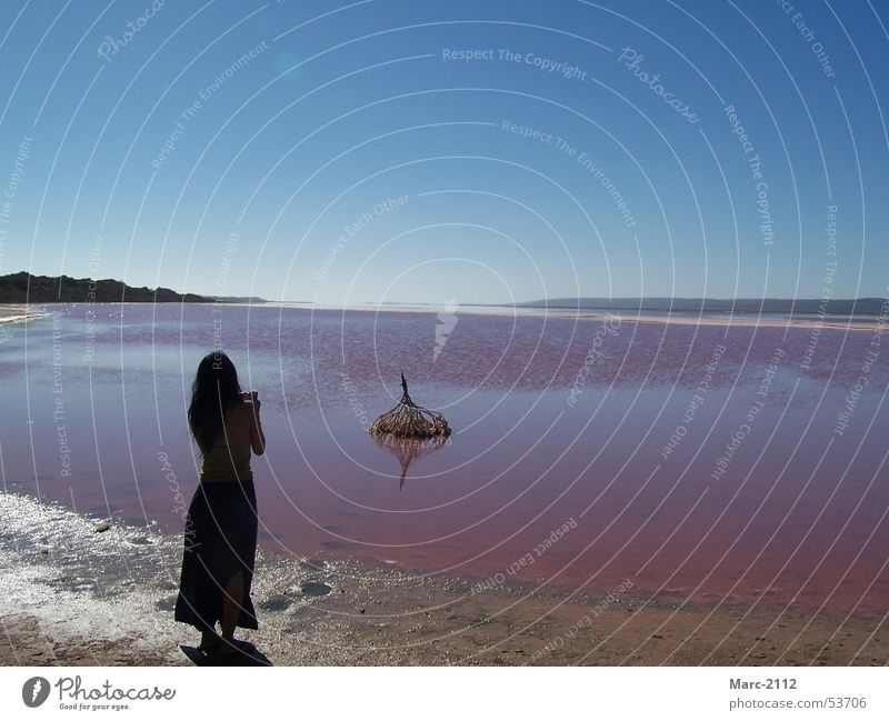Water Sky Ocean Lake Pink Australia Salt