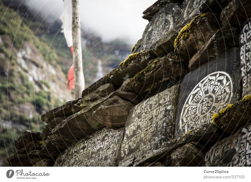Nature Religion and faith Stone Culture Nepal Prayer board