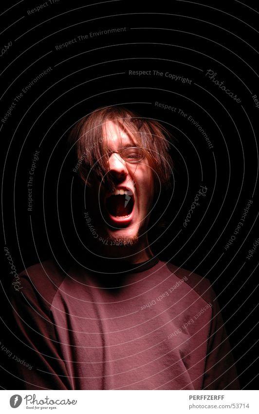 Dark Hair and hairstyles Mouth Teeth Scream Evil Loud