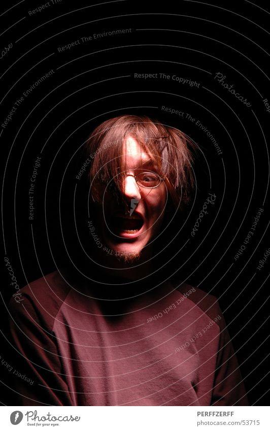 aaah! (2) Dark Scream Loud Evil Mouth Pascal Hair and hairstyles Shadow Teeth