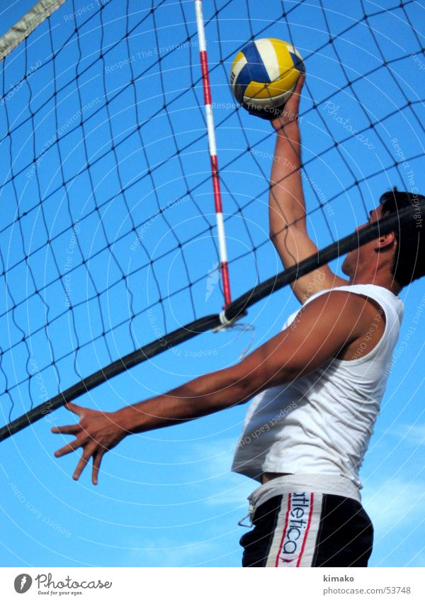 Beach Voley Sky Action Playing Man voley game Ball play Sphere kimako