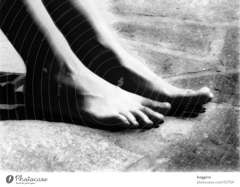 Contact Beautiful Tasty Soft Safety Calm Toes Moody Pleasant Exciting Mysterious Black White Esthetic Exterior shot Reworked Feet Black & white photo