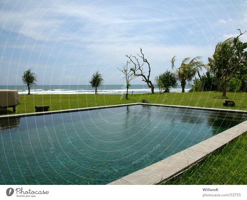 Bali Pool Swimming pool Indonesia Vacation & Travel Meadow Vantage point Ocean Waves Sky Water