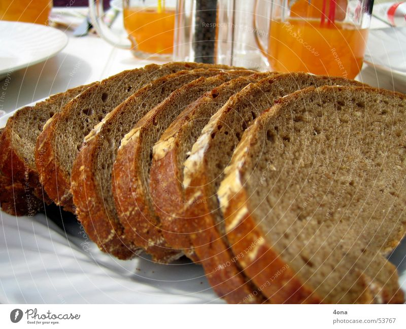 Nutrition Table Bread Window pane