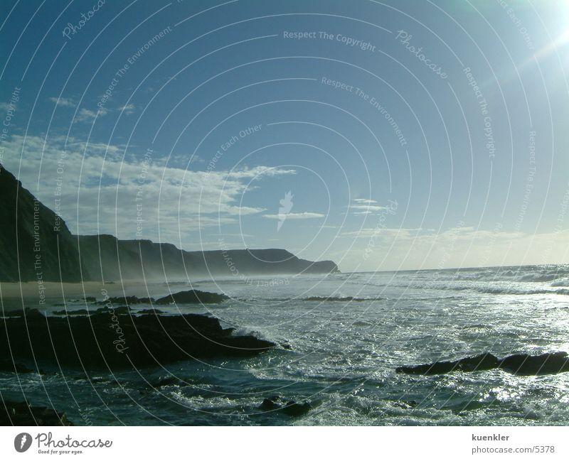 Sun Ocean Beach Waves Rock Surf Portugal White crest