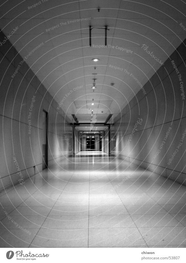 Loneliness Dark Lanes & trails Room Time Empty Future Infinity Tunnel Direction Leipzig Narrow Eternity Parking garage Passage