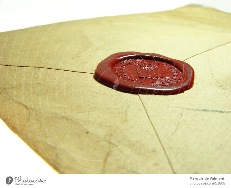 Old Closed Paper Information Mysterious Document Letter (Mail) Communication Envelope (Mail) Private Delivery person Mat Seal Confidential